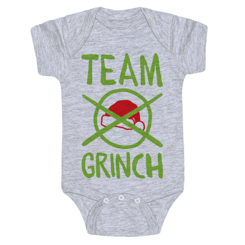 Team Grinch Baby Onesy
