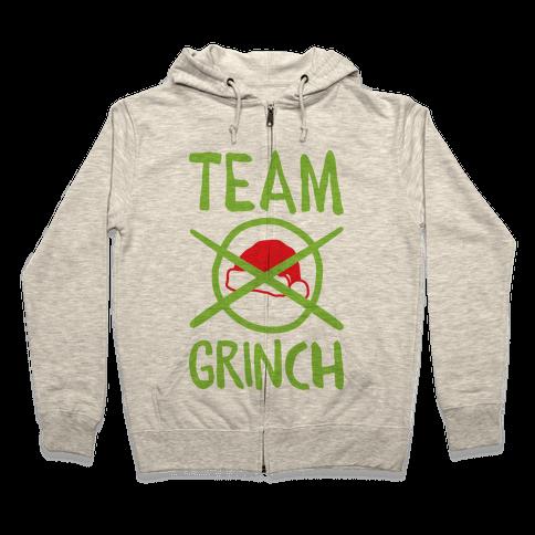 Team Grinch Zip Hoodie