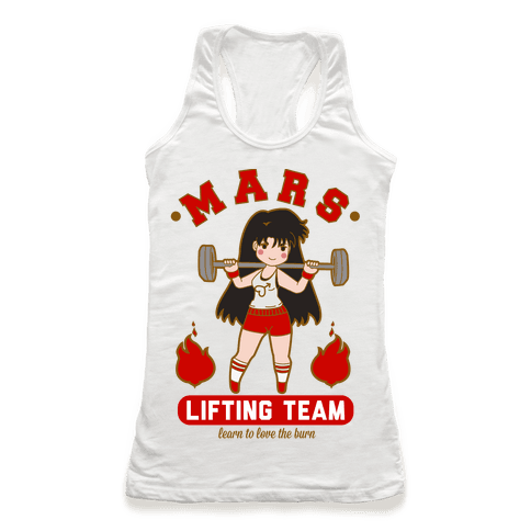 Mars Lifting Team Parody Racerback Tank Top