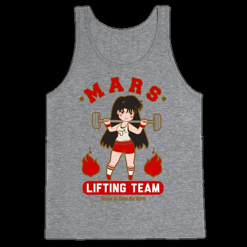 Mars Lifting Team Parody Tank Top