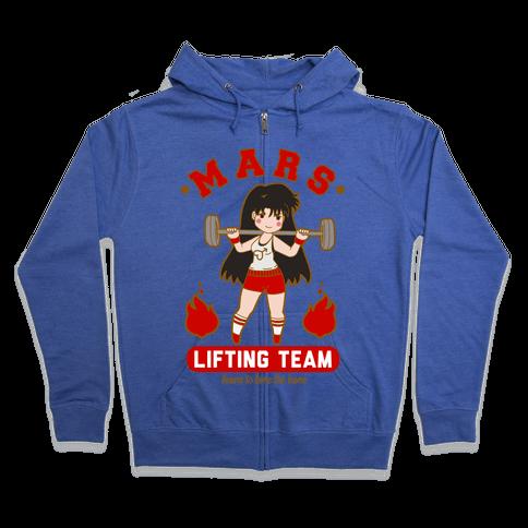 Mars Lifting Team Parody Zip Hoodie