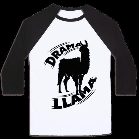 Drama Llama Baseball Tee