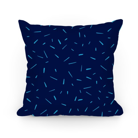 Navy Confetti Pattern Pillow