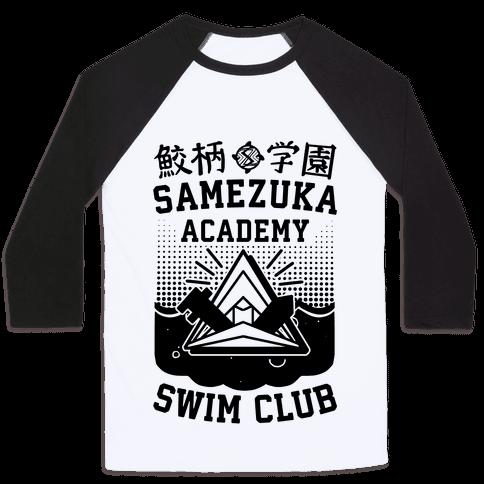 Samezuka Academy Swim Club Baseball Tee