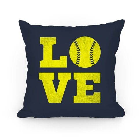Love Softball Pillow Pillow