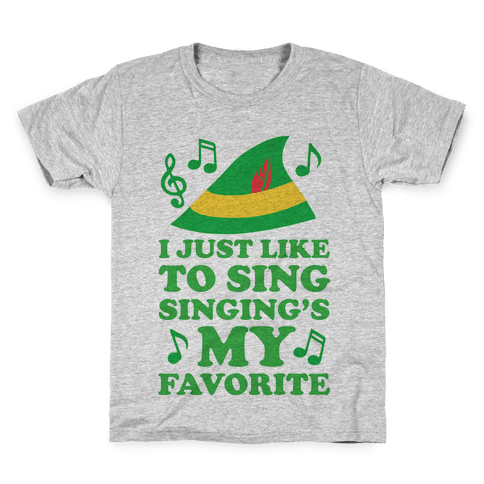 I Just Like To Sing, Singing's My Favorite Kids T-Shirt