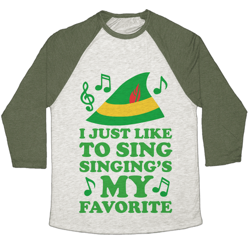 I Just Like To Sing, Singing's My Favorite Baseball Tee