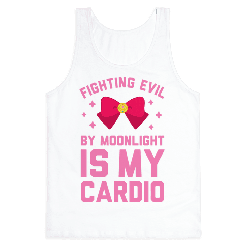My Cardio is Fighting Evil by Moonlight Tank Top