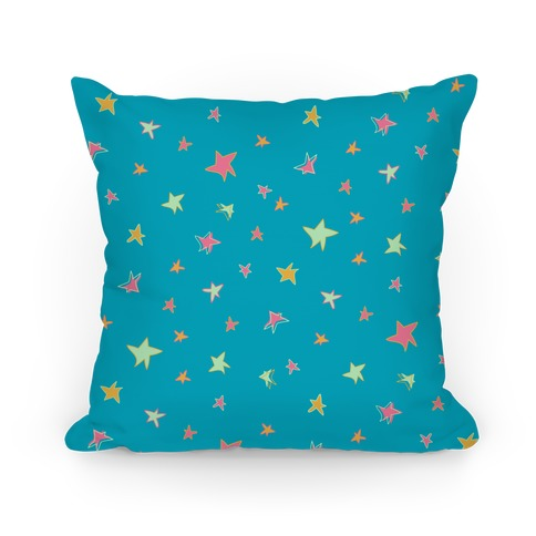 Radical 90s Star Pattern Pillow