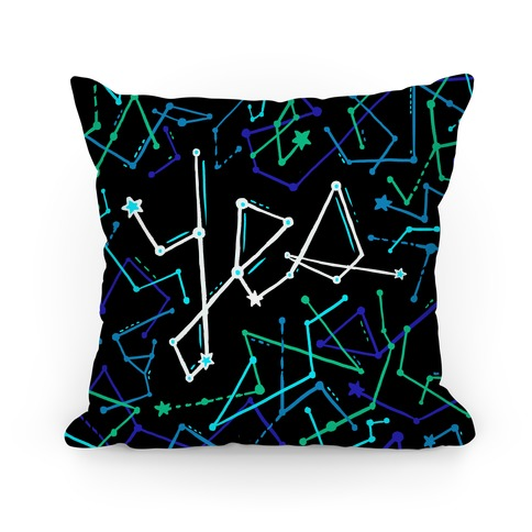 Yes Constellation Pattern Pillow