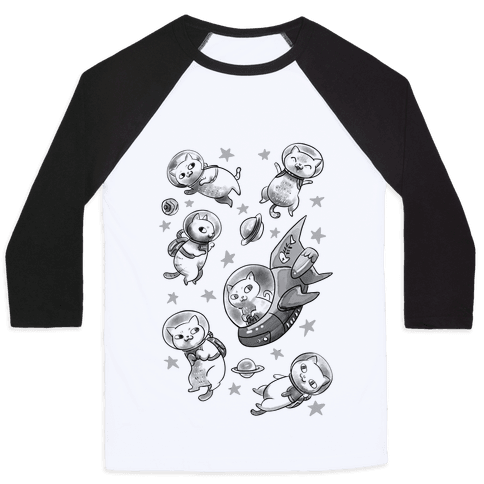 Cats In Space Baseball Tee