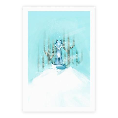 Blue Fox Poster