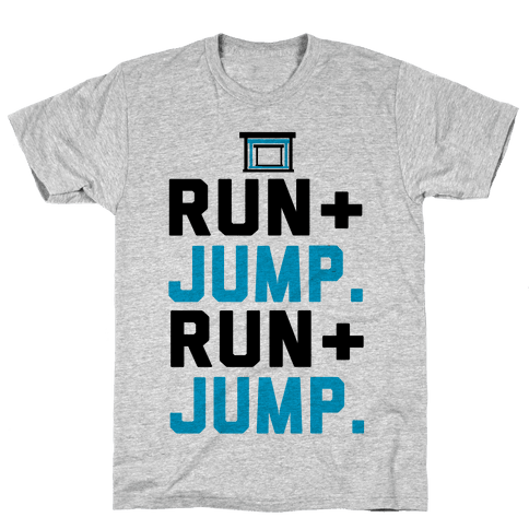 Hurdles: Run and Jump Mens T-Shirt