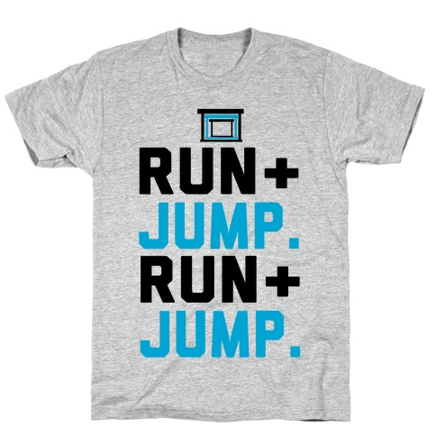 Hurdles: Run and Jump Mens T-Shirt