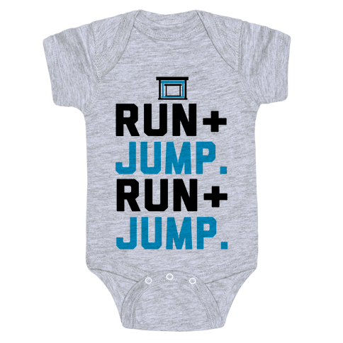 Hurdles: Run and Jump Baby Onesy