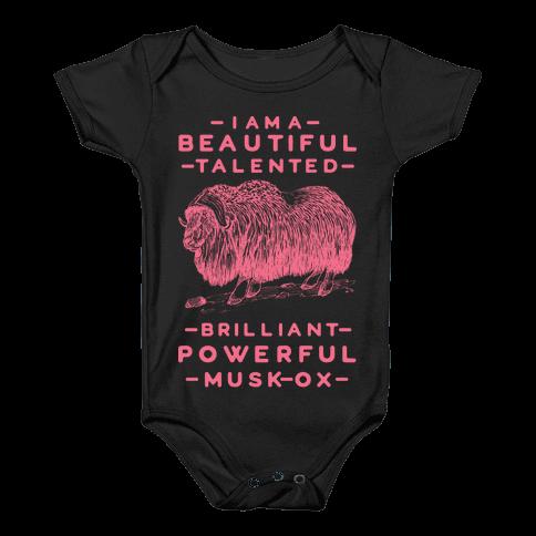 I Am A Beautiful Talented Brilliant Powerful Musk-Ox Baby Onesy
