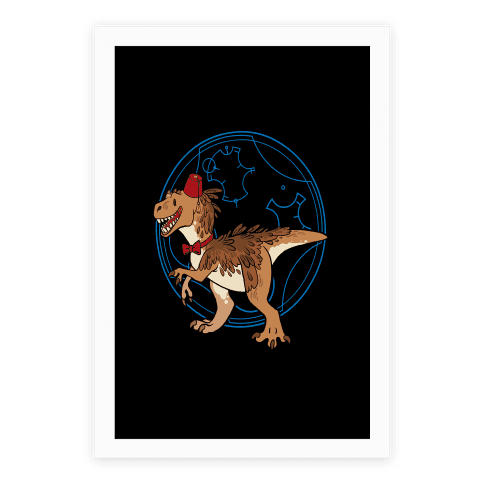 Dinosaur Doctor Who Poster