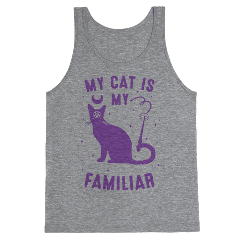 My Cat is My Familiar Tank Top