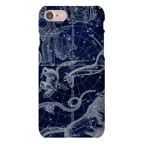 Blue and White Constellations Phone Case
