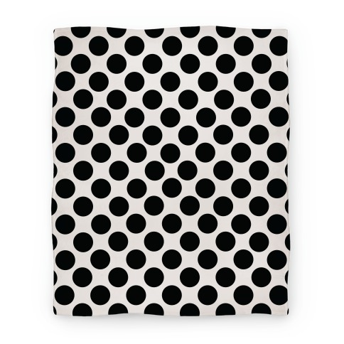 Polka Dot Blanket (Black) Blanket