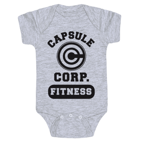 Capsule Corp. Fitness Baby Onesy