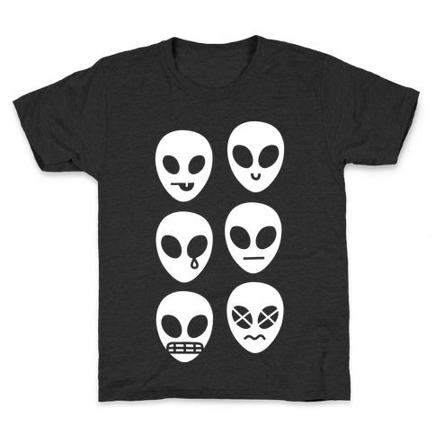 Alien Emojis Kids T-Shirt