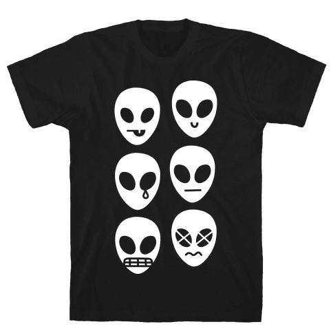 Alien Emojis Mens T-Shirt