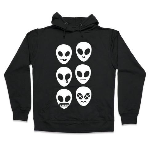 Alien Emojis Hooded Sweatshirt