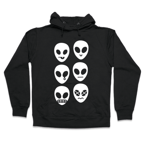 Alien Emojis Hooded Sweatshirt