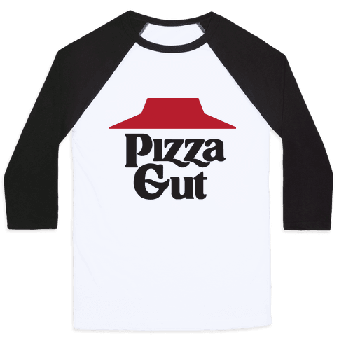Pizza Gut Baseball Tee