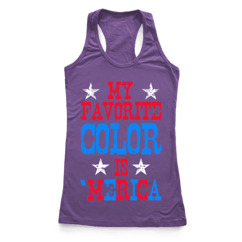 My Favorite Color is 'Merica! Racerback Tank Top