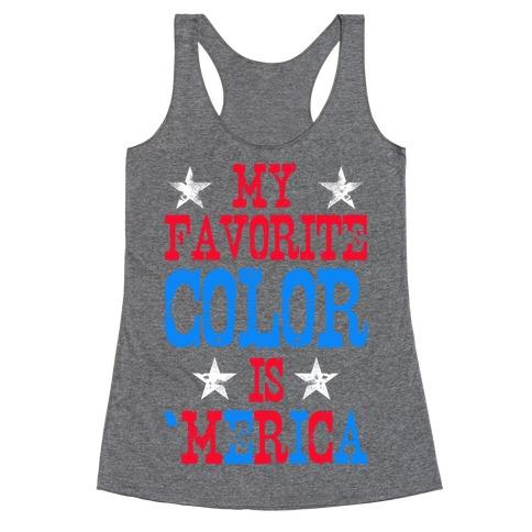 My Favorite Color is 'Merica! Racerback Tank Top