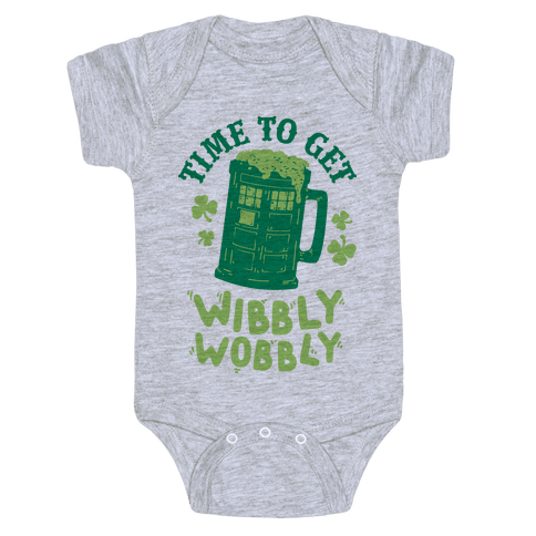 Time to Get Wibbly Wobbly Baby Onesy