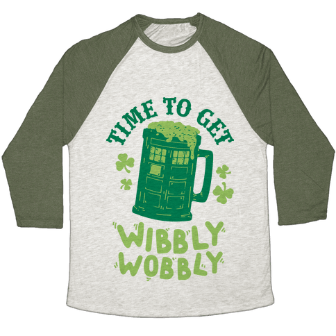 Time to Get Wibbly Wobbly Baseball Tee