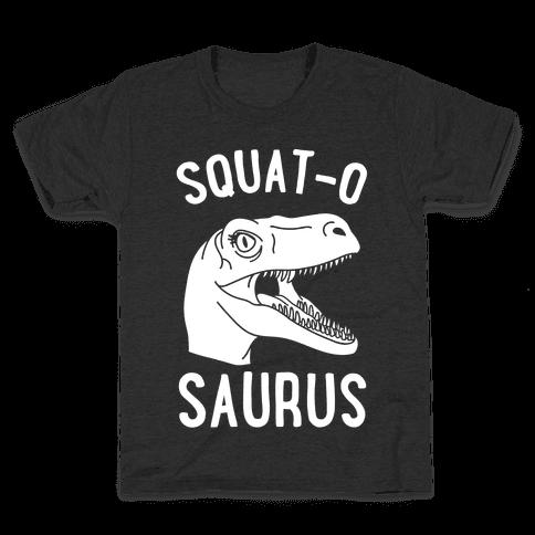 Squat-O-Saurus Kids T-Shirt