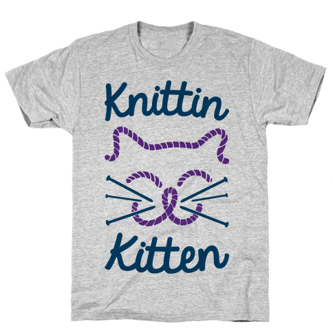 Knittin Kitten Mens T-Shirt