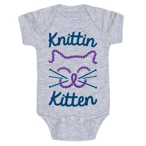 Knittin Kitten Baby Onesy