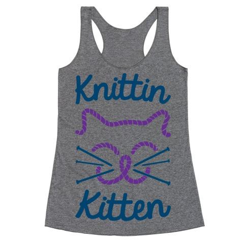 Knittin Kitten Racerback Tank Top