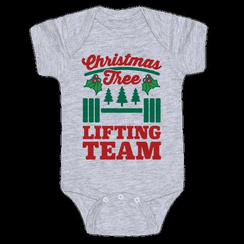 Christmas Tree Lifting Team Baby Onesy