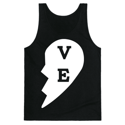 """VE"" Love Couples Tank  Tank Top"