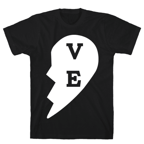"""VE"" Love Couples Tank  Mens T-Shirt"