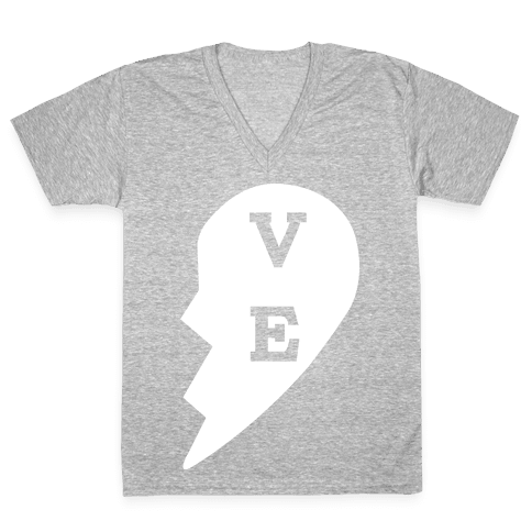 """VE"" Love Couples Tank  V-Neck Tee Shirt"