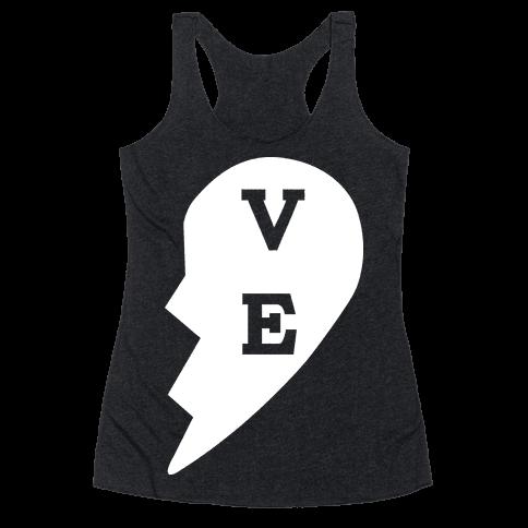 """VE"" Love Couples Tank  Racerback Tank Top"
