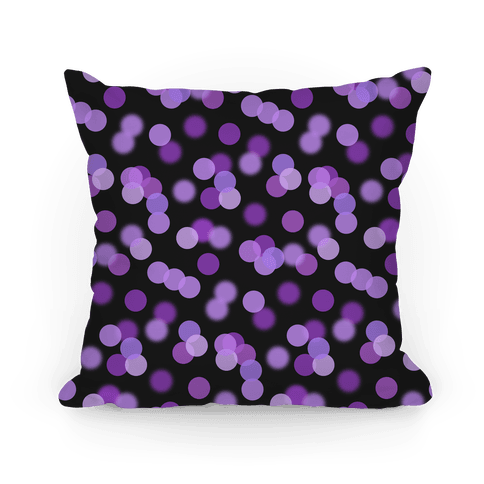 Purple Glitter Bokeh Pattern Pillow