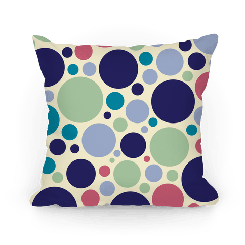 Circle Pattern Pillow (Yellow) Pillow