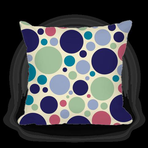 Circle Pattern Pillow (Yellow) Pillow
