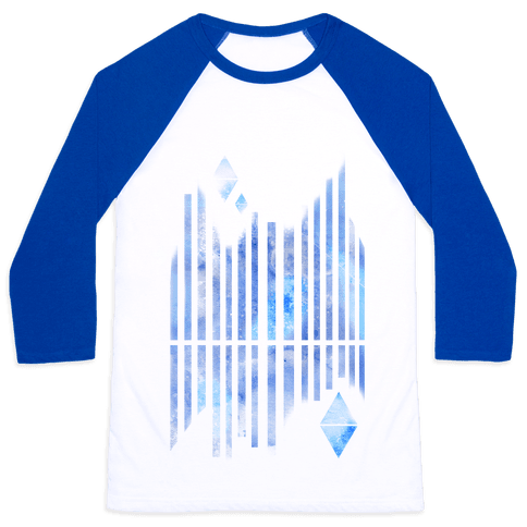 Abstract Winter Crystals Baseball Tee