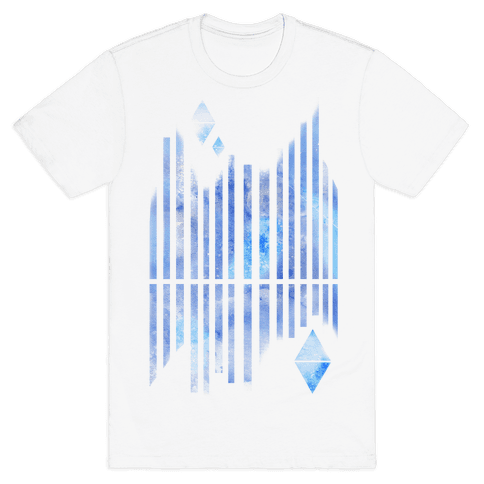 Abstract Winter Crystals Mens T-Shirt