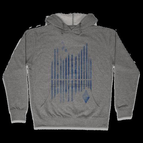 Abstract Winter Crystals Hooded Sweatshirt