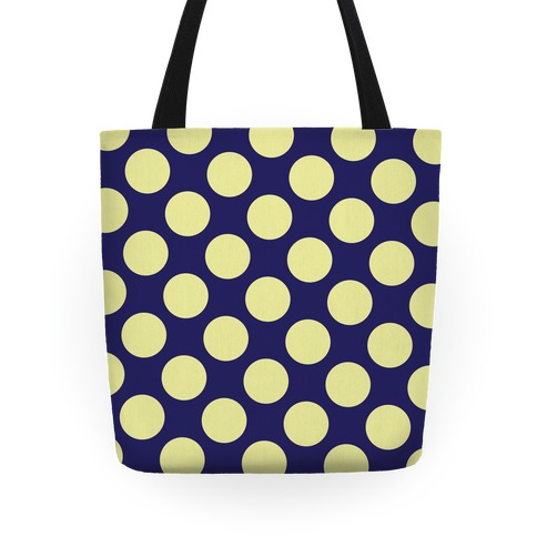 Yellow Polka Dot Tote